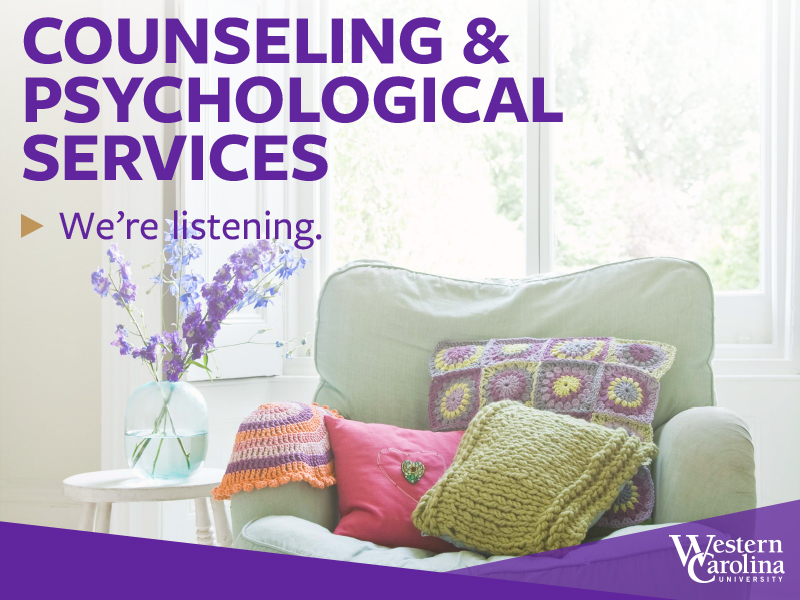 Counseling and Psychological Services, we're here to help