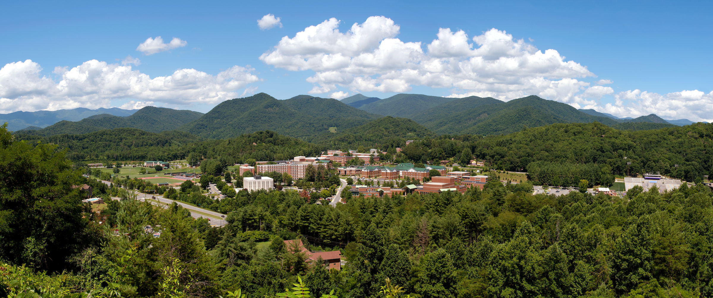 Aerial View of Western Carolina University's Cullowhee Campus