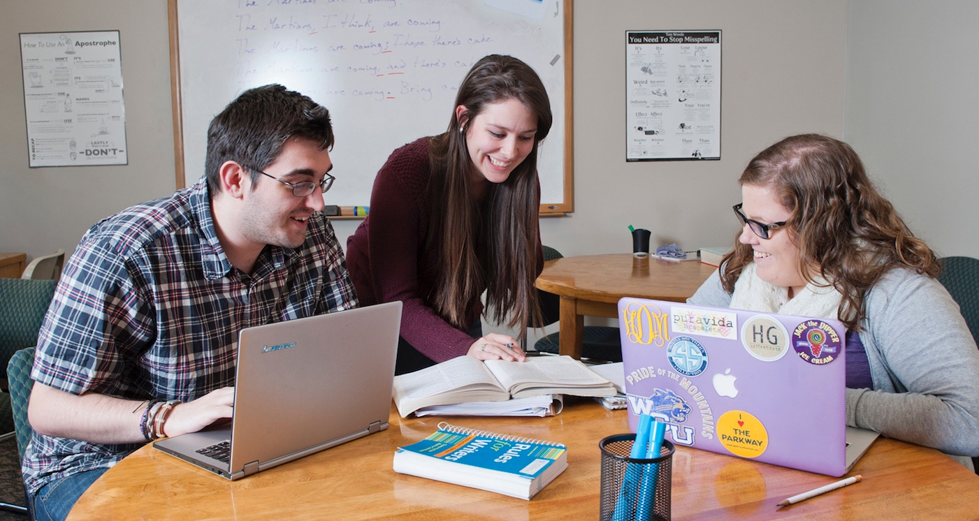 Image of students in the tutoring center